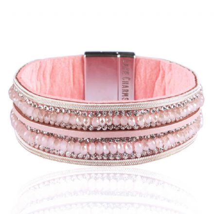 Dusty Rose Colour Wrap Bracelet